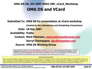 OMA-DS-DS_DO-2007-0002-INP_vCard_Workshop OMA DS and VCard