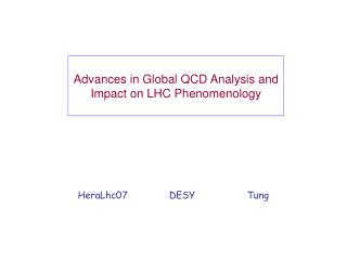Advances in Global QCD Analysis and Impact on LHC Phenomenology