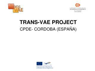 TRANS-VAE PROJECT