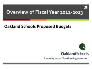 Oakland Schools Proposed Budgets