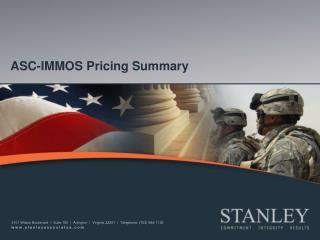 ASC-IMMOS Pricing Summary