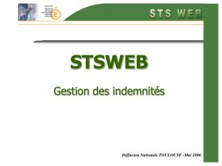 STSWEB Gestion des indemnités