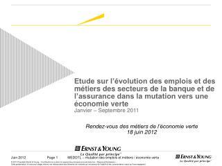 Rendez-vous des métiers de l'économie verte 18 juin 2012