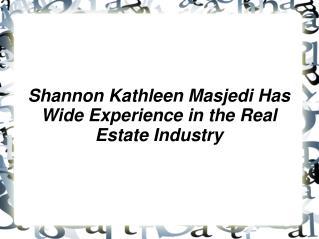 Shannon Kathleen Masjedi