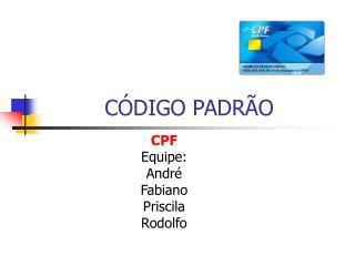 CÓDIGO PADRÃO