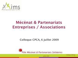Mécénat & Partenariats Entreprises / Associations