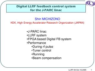 Digital LLRF feedback control system  for the J-PARC linac