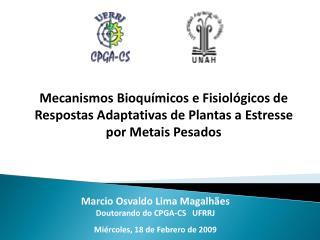 Marcio Osvaldo Lima Magalhães Doutorando do CPGA-CS   UFRRJ