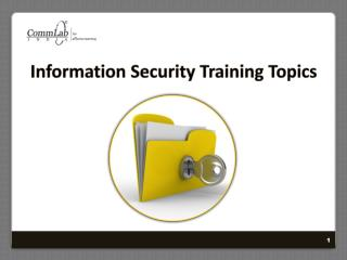 Information Security Training Topics