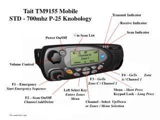 Tait TM9155 Mobile              STD - 700mhz P-25 Knobology