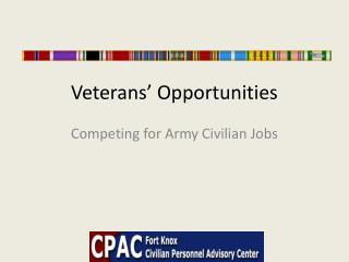 Veterans' Opportunities