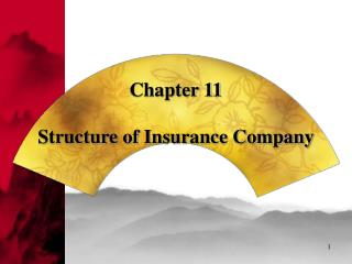 Chapter 11   Structure of Insurance Company