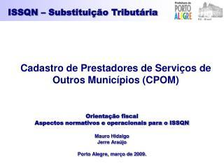 ISSQN – Substituição Tributária