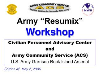 Army �Resumix�  Workshop