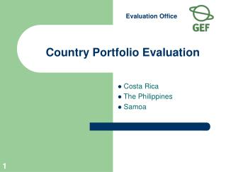 Country Portfolio Evaluation