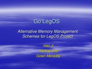 Go'LegOS