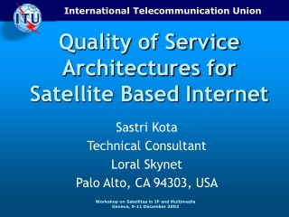 Satellite-based Internet