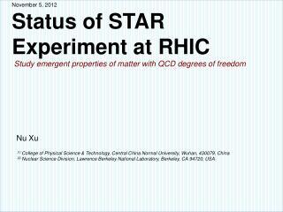 STAR  Experiment
