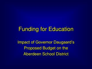 Funding for Education