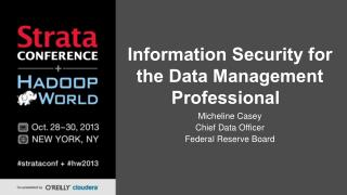 Information Security for the Data Management Professional
