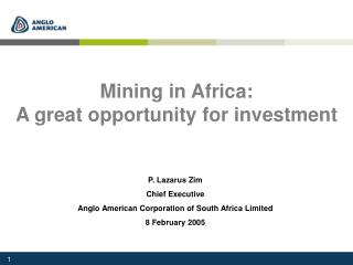 Mining in Africa: A great opportunity for investment