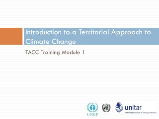 Introduction to a Territorial Approach to Climate Change