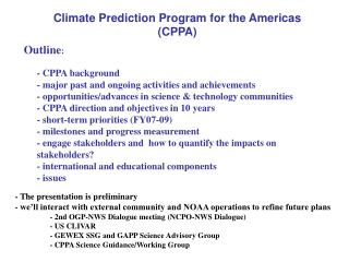 Climate Prediction Program for the Americas (CPPA)