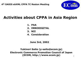 Activities about CPPA in Asia Region