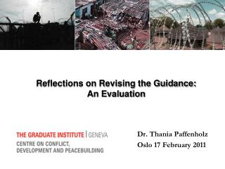 Reflections on Revising the Guidance:  An Evaluation