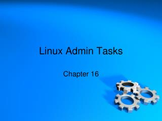 Linux Admin Tasks