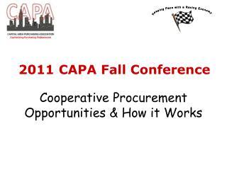 Cooperative Procurement Opportunities & How it Works