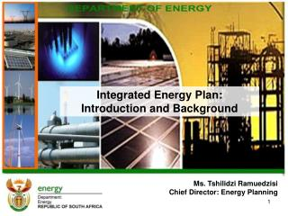 Ms. Tshilidzi Ramuedzisi Chief Director: Energy Planning