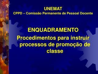 UNEMAT  CPPD – Comissão Permanente de Pessoal Docente