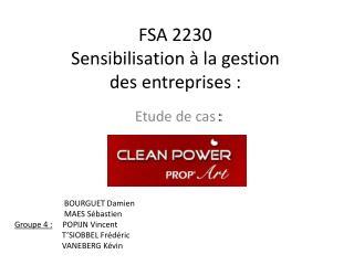 FSA 2230 Sensibilisation à la gestion  des entreprises :