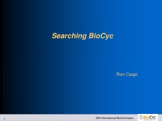 Searching BioCyc