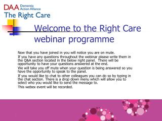 Welcome to the Right Care webinar programme