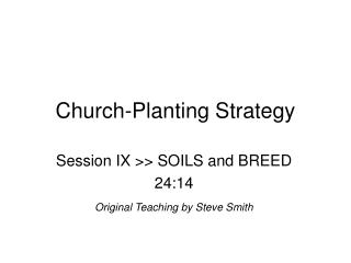 Church-Planting Strategy