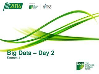 Big Data – Day 2
