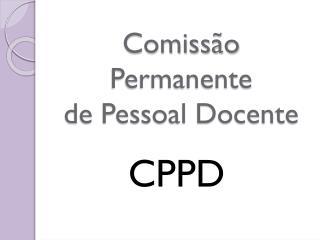 Comissão Permanente  de Pessoal Docente