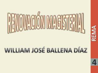 RENOVACIÓN MAGISTERIAL