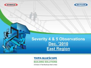 Severity 4 & 5 Observations  Dec. '2010  East Region