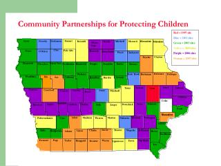 All but one site has DHS and the Decat coordinator involved in CPPC.