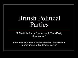 British Political Parties