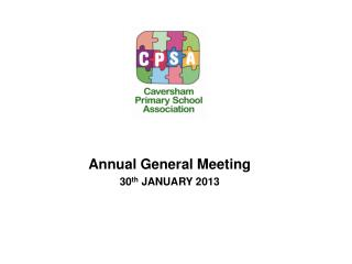 Annual General Meeting 30 th  JANUARY 2013