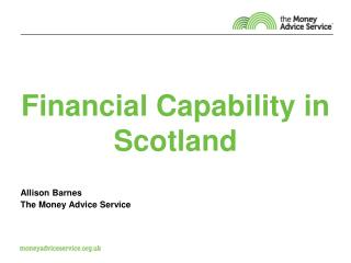 Financial Capability in Scotland