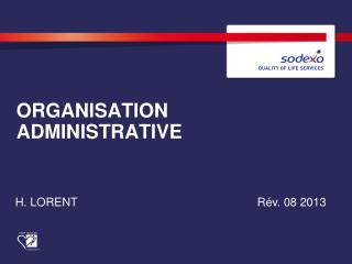 ORGANISATION ADMINISTRATIVE