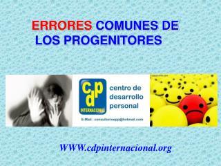 ERRORES  COMUNES DE  LOS PROGENITORES