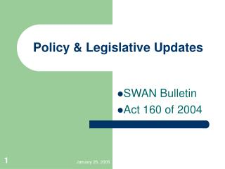 Policy & Legislative Updates