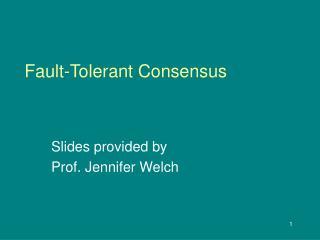 Fault-Tolerant Consensus