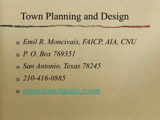 Town Planning and Design